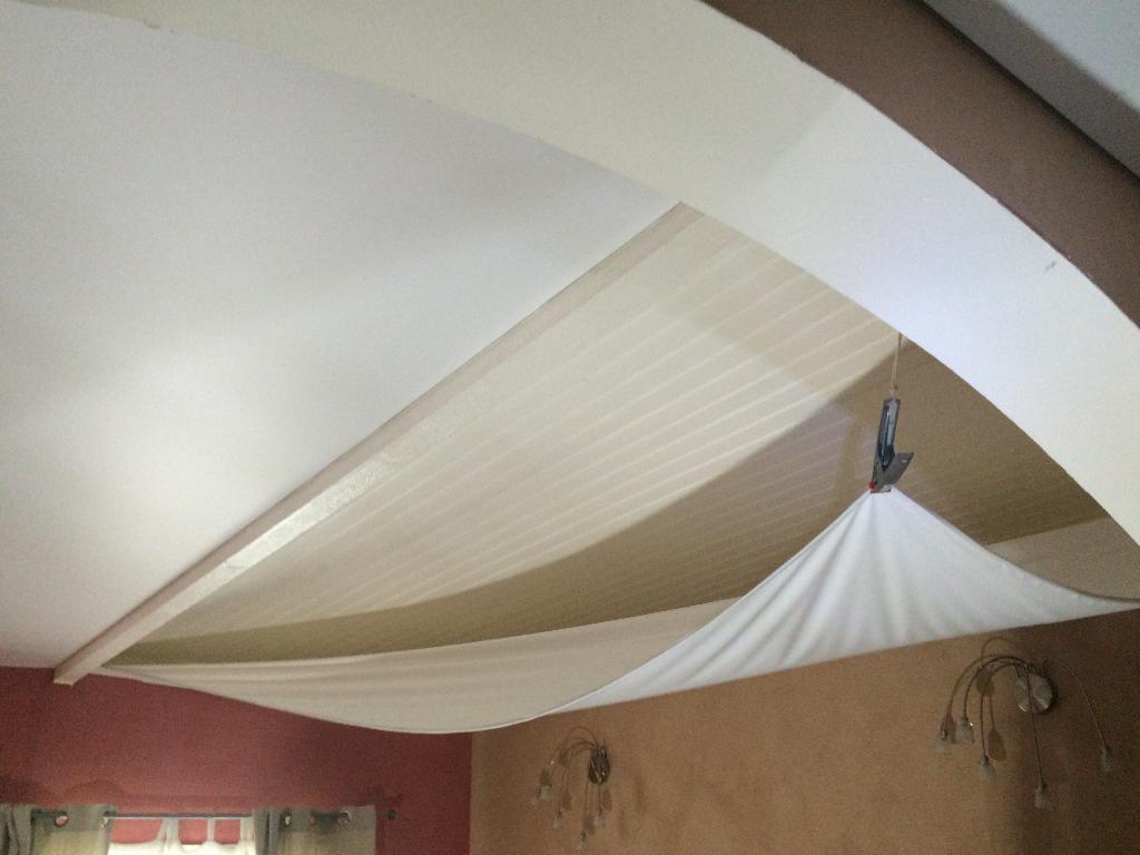 Plafond tendu blanc satin Bruges